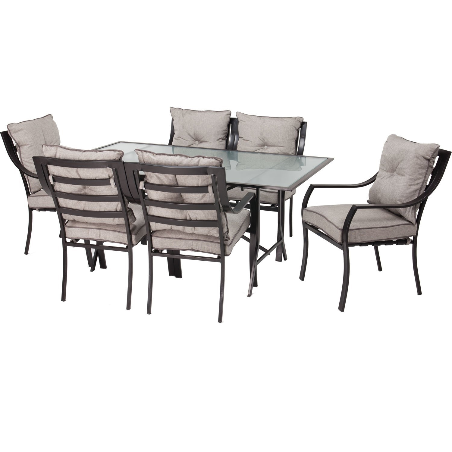 10 Piece Outdoor Patio Furniture Metal Dining Set with Cushions